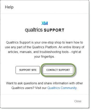 Qualtrics chat support screenshot 1
